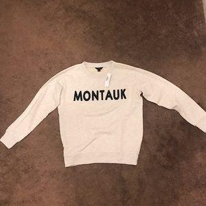 "J.Crew ""Montauk"" Crewneck Sweatshirt, Sz XS"